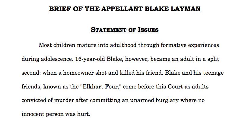 Blake Layman -- appeal brief